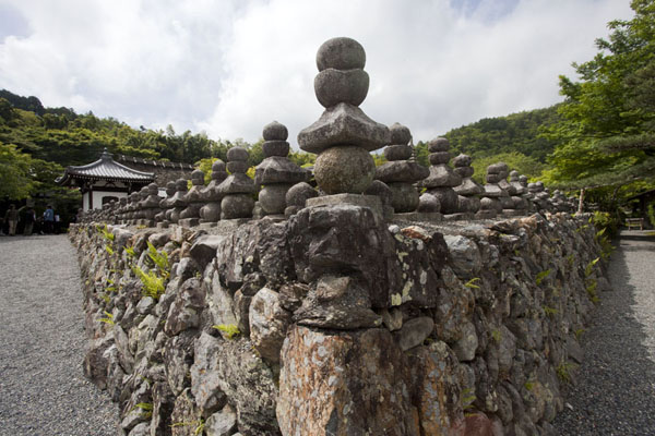 Picture of Adashino Nembutsu-ji cemetery consists of thousands of small stone images - Japan - Asia