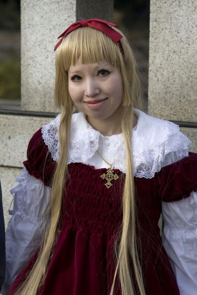 Japanese girl with sweet looks posing for the camera | Harajuku Cosplay | Japan