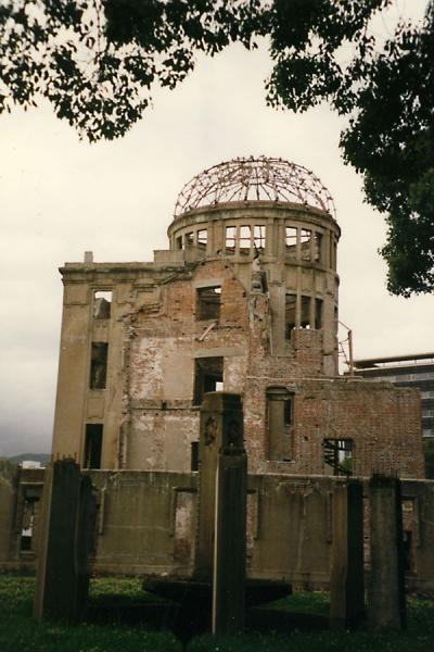 The A-bomb or Genbaku Dome, close to where the bomb was dropped | Peace Memorial Park | Japan