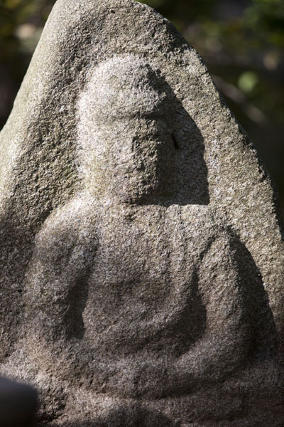 Picture of Buddha statue on the grounds of the Kinkaku-ji complex