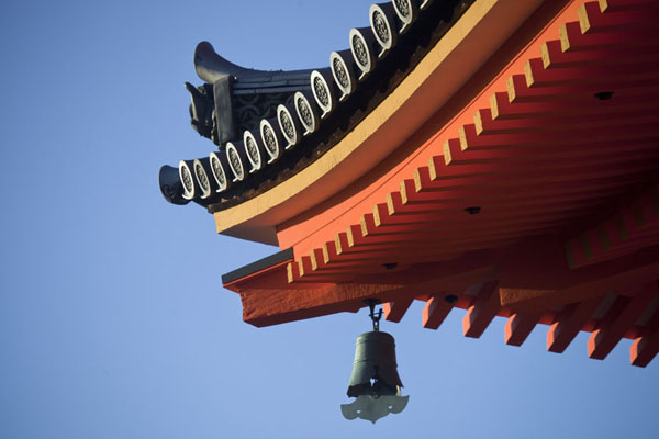 The corner of the roof of the Three Storied Pagoda | Kiyomizu-dera | Japan