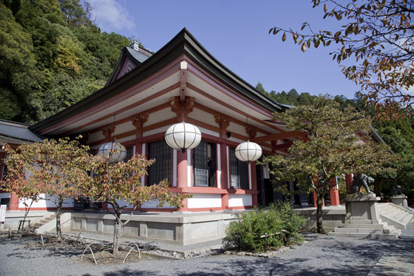 Side view of the Honden, or Main Hall of Kurama-dera | Kurama to Kibune | Japan