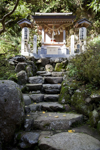 Stone stairs leading up the mountain | Kurama to Kibune | Japan