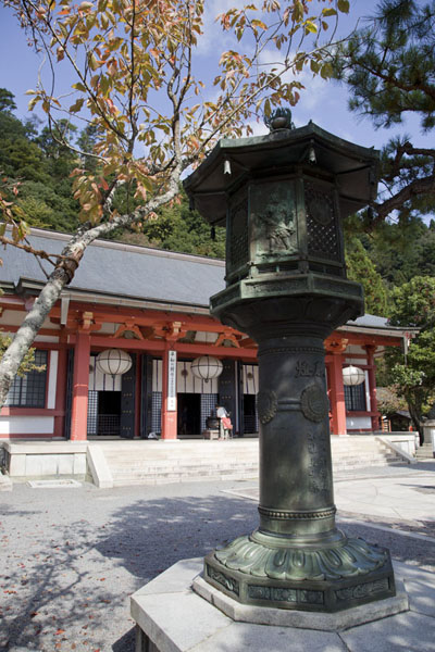 Lantern at the Kurama-dera temple halfway the mountain | Kurama to Kibune | Japan