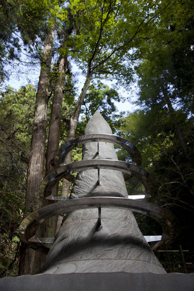 Life- statue of Love, Light, and Strength, just above the Yuki shrine | Kurama to Kibune | Japan