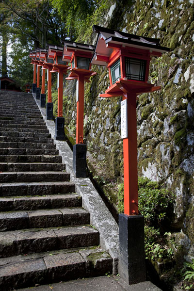 Stairs leading up to Kurama-dera temple | Kurama to Kibune | Japan