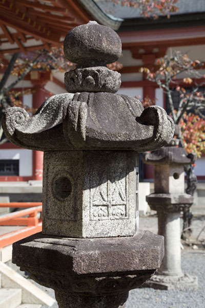 Stone lantern at the Kurama-dera | Kurama to Kibune | Japan