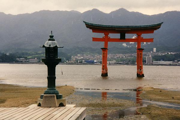 The torii of Itsukushima Shrine in the water | Miyajima | Japan