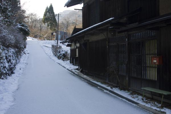 Snow on the Nakasendo road in a small village | Nakasendo | Japan
