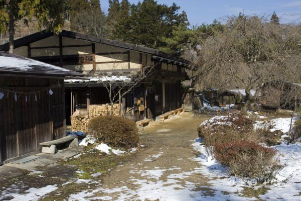 One of the houses on the Nakasendo - offering Japanese tea | Nakasendo | Japan
