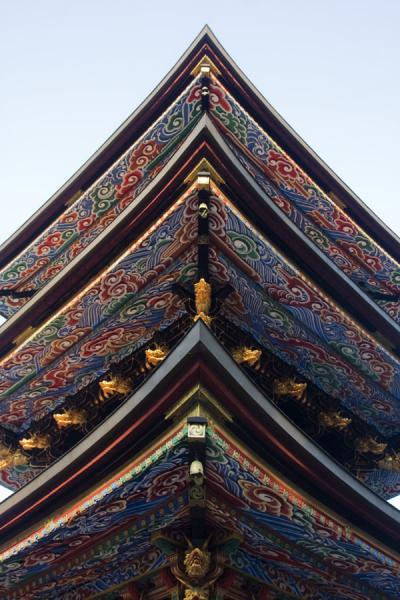 Looking up the Three Storied Pagoda | Narita-san Shinsho-ji temple | Japan