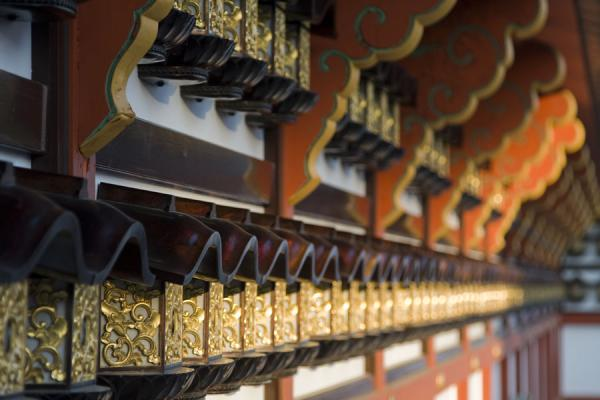 Close-up of the wall surrounding Shotokutaishido Hall | Narita-san Shinsho-ji temple | Japan