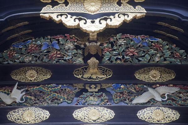 Close-up of karamon leading up to Ninomaru Palace | Castillo de Nijo | Japón
