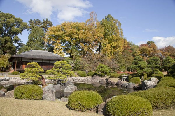 Picture of Seiryu-en garden at the northern side of Nijo Castle groundsKyoto - Japan