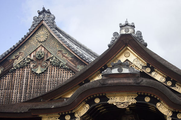 Richly decorated roof of Ninomaru Palace | Nijo Castle | Japan