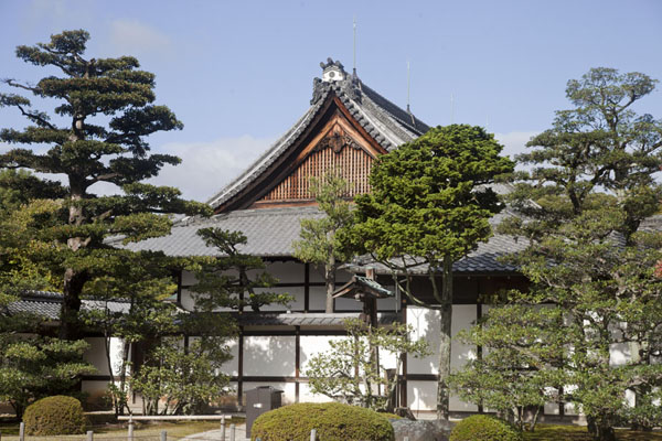 Close-up of one of the buildings of Honmaru Palace | Castillo de Nijo | Japón
