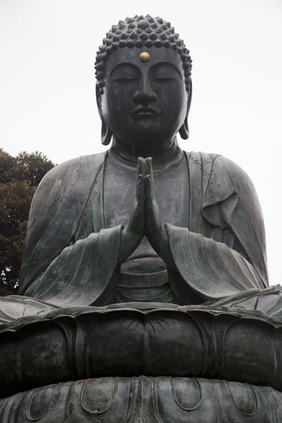 Picture of Bronze Buddha at Tenno-ji Temple, cast in 1690Tokyo - Japan
