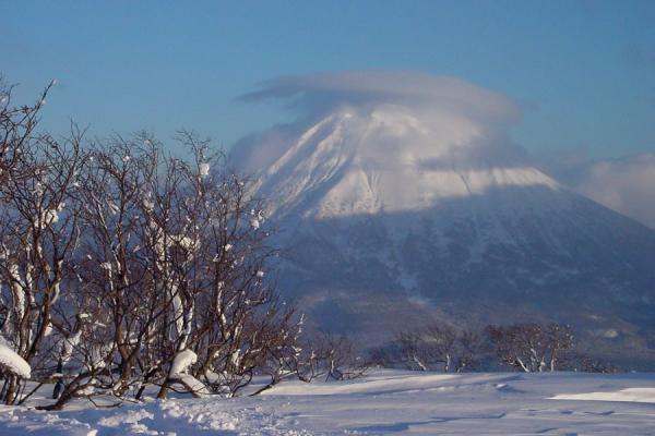 Volcano with a cap | Niseko Skiing | Japan