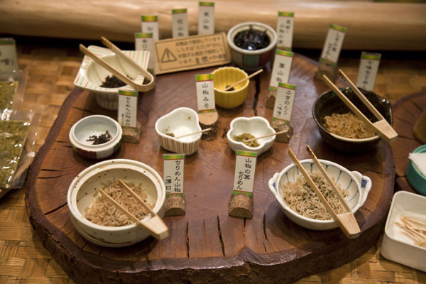 Picture of typical Japanese ingredients for saleKyoto - Japan
