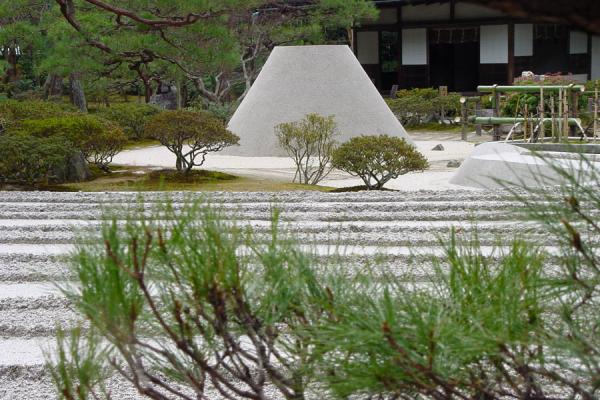 Garden and Mt Fuji-shaped mountain in Ginkakuji Temple | Path of Philosophy | Japan