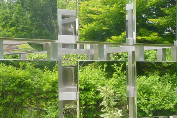 Nature reflected in art (1985 Intellectual Depression by Yuhara, Kazuro) | Sapporo Art Park | Japan