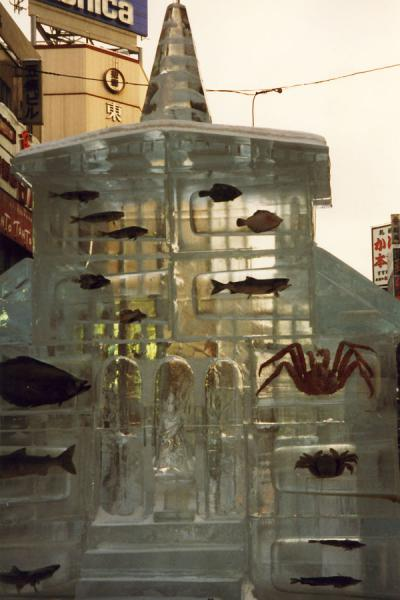 Picture of Ice building with sea creatures