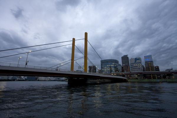 Picture of Modern Shinohashi bridge over Sumida river