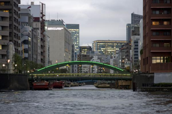 Picture of Yanagi bridge crossing a side river of the SumidaTokyo - Japan