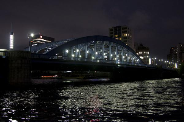 Night view of Sumida river | Promenade fleuve Sumida | Japon