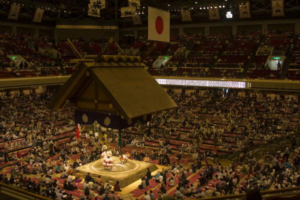 Picture of Sumo wrestling (Japan): Ryogoku Kokugikan sumo wrestling hall seen from above