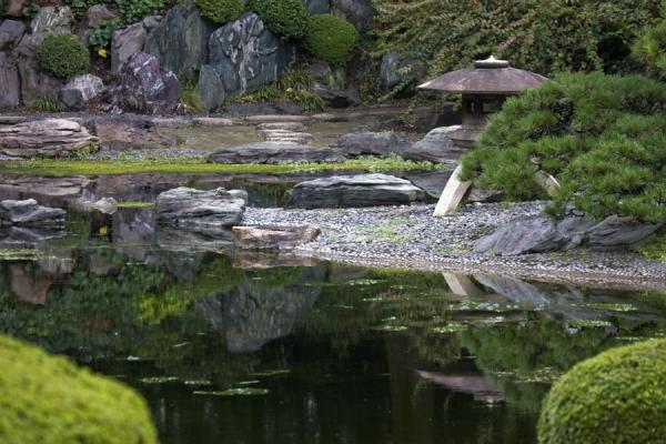 Picture of Imperial Gardens (Japan): Ninomaru Garden with stone lantern