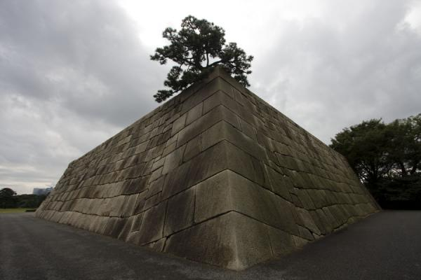 Picture of Imperial Gardens (Japan): Base of Tenjukaku Donjon in the East Imperial Gardens
