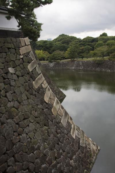 Picture of Imperial Gardens (Japan): Wall and moat of the East Imperial Gardens at Kitahanebashi-mon Gate