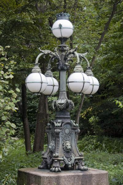 Picture of Imperial Gardens (Japan): Old street lantern in the East Imperial Gardens