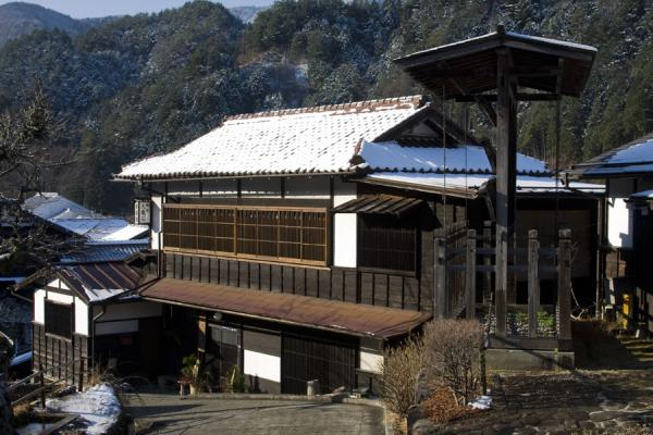 Traditional wooden house and bulletin board in Tsumago | Tsumago | Japan