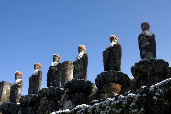 Row of statues at the cemetery of Tsumago | Tsumago | Japan
