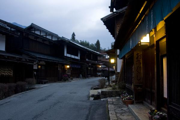 Picture of Evening falling over the traditional town of Tsumago
