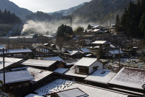 Snow on the roofs of Tsumago | Tsumago | Japan