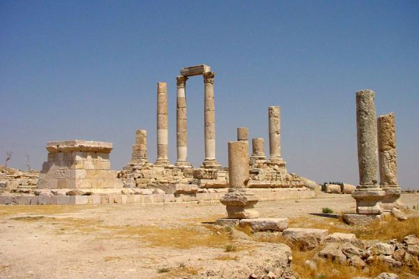 Remains of the old Roman temple dedicated to Hercules | Amman citadel | Jordan