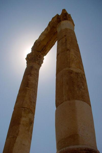 Two of the columns of the Hercules temple | Amman citadel | Jordan