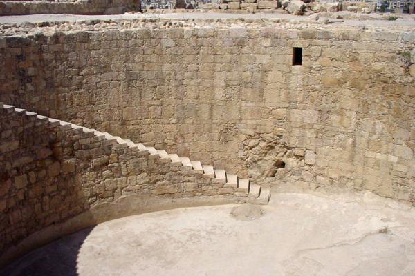 Picture of Amman citadel (Jordan): Cistern at Citadel, Amman