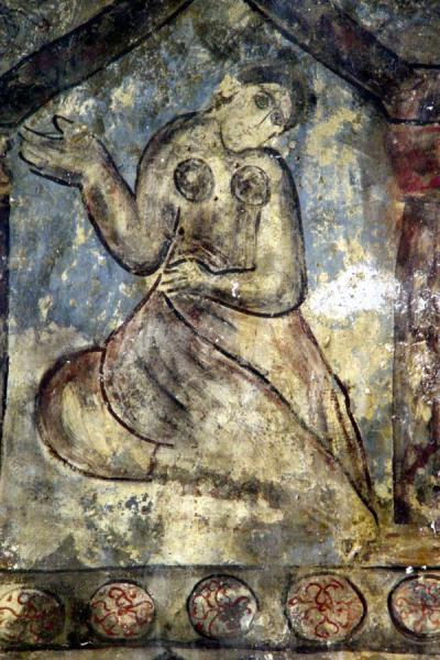 Picture of Desert Castle Loop (Jordan): Fresco at Qasr al-Amra, near Amman