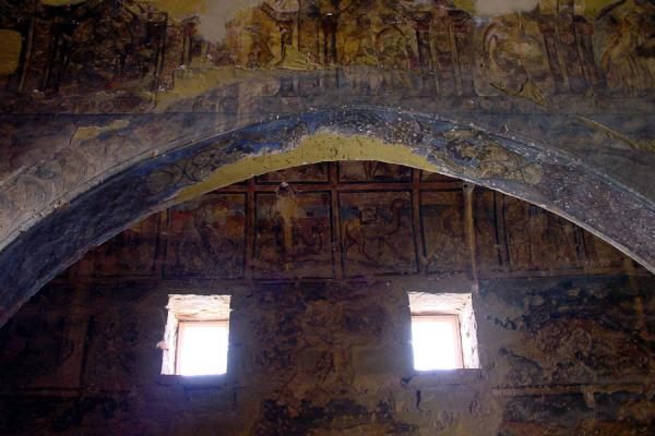 Picture of Desert Castle Loop (Jordan): Qasr al-Amra: ceiling with frescoes