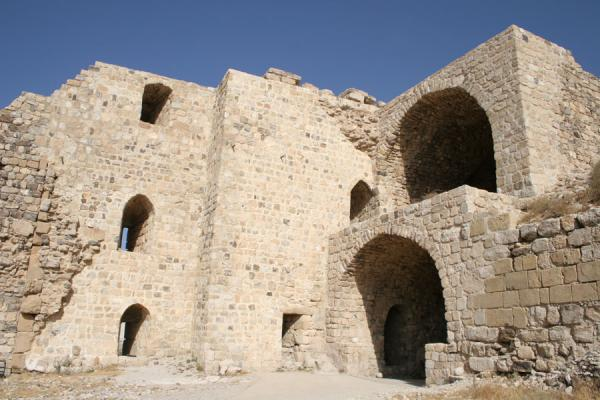 Part of Kerak Castle near the North Front | Kerak | Jordanië