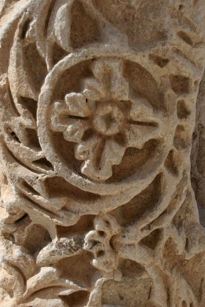 Picture of Detail of one of the stonesKerak - Jordan