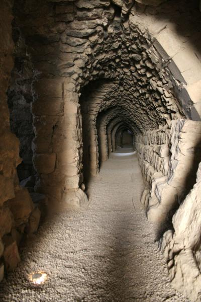 One of the many tunnels in Kerak Castle | Kerak | Jordanië