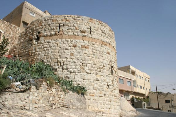 Picture of Kerak town and At-Tawaheen tower