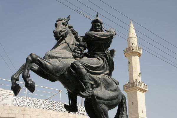 Statue of Saladin in the centre of Kerak town | Kerak | Jordanië