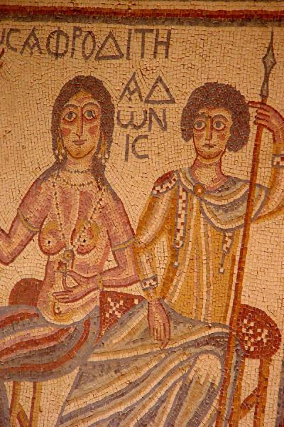 Picture of Afrodite and Adonis mosaic, Madaba