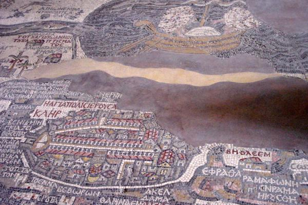 Picture of Floor mosaic with map of Middle East, Madaba